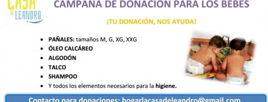 Campaña de donacion de pañales
